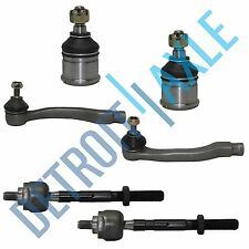 6pc Front Inner & Outer Tie Rod  Lower Ball Joints Honda Civic Acura Integra