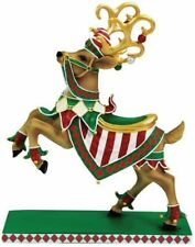 """Westlnd Giftware Reindeer Christmas Holiday Collectible Figurine Red Green 8"""""""