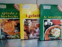 Lotto libri Nuova cucina - 3 volumi, insalate, i gelati, spiedo e barbecue