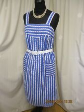 VINTAGE WHITE RED & BLUE PATTERNED SUN DRESS