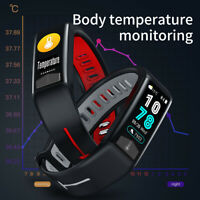 T02 Smart Body Temperature Measurement Bracelet Blood Pressure Monitoring Watch