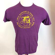 Vtg 70's Russell Gold Tag YMCA Bicycle Running Marathon Cycling Racing T Shirt