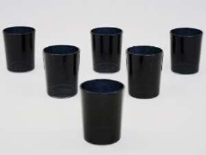 10 Black Glass Tea light Votive Cup Jar Candle Holder Table Room Party Decor