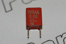 5x 0.22uF 63V Wima MKS2 Metallized Poly Film Capacitor Radial 5mm