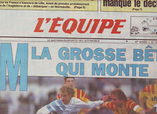 journal  l'equipe 23/02/93 FOOTBALL MARSEILLE LENS STADE AZTEQUE