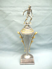 team lot of 9 female soccer trophies award pewter finish cup