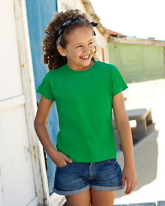 Fruit of the Loom Girls Valueweight T Shirt (61005) Huge stock & Quick Delivery