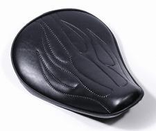 Custom Solo Sitz Big Flammen Extrem flach für Harley Chopper Bobber