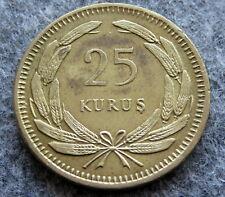 TURKEY 1956 25 KURUS, AUNC
