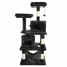Segawe 57 inch Cat Activity Tower Play House with Scratching Posts