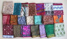 Vintage Silk Sari Recycled Scarf Stoles Dupatta Multi-color scarves Lot 25 Pcs