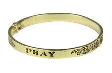4031226 PRAY Hinged Bangle Bracelet Encouragement Graduation Gift Grieving
