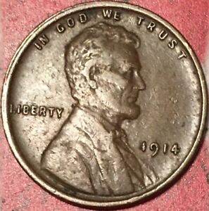 1914-P LINCOLN CENT//VF-XF//FAST FREE SHIPPING with TRACKING