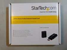 Startech ICUSBAUDIOB USB Stereo Audio Adapter External Sound Card