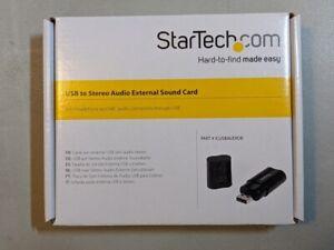 Startech ICUSBAUDIOB USB Stereo Audio Adapter External Sound Card