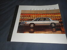 1987 Plymouth Reliant K Car Color Brochure Catalog Prospekt