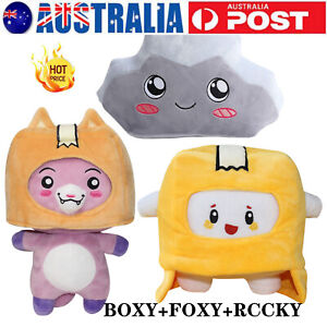 Plush Soft Stuffed Toy Kid Game Figure Plushie Doll Lankybox BOXY + FOXY + ROCK