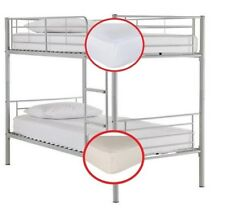 """BUNK BED fitted sheets 2 ft 6"""" small single Elasticated Deep Sides White Cream"""