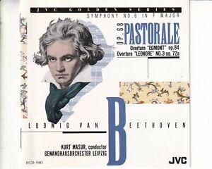 CD KURT MASURBeethoven symphony no 6 in f major op 68JVC VG++ (B8147)