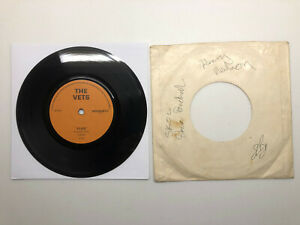 The Vets ' Flies' Ultra Rare Punk/New Wave Vinyl Single Hand Signed By Band