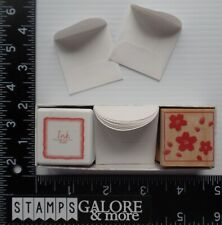 HERO ARTS RUBBER STAMPS LL767 CHERRY BLOSSOM DESIGN NOTES INK PAPER ENVELOPES