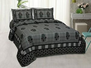 Screen Printed Double Size Bedsheet with 2 Pillow Cover 210 TC - 100X108""