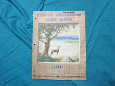 1948 Wildlife Conservation Stamp Album Complete W/Stamps, Deer  (shelf)