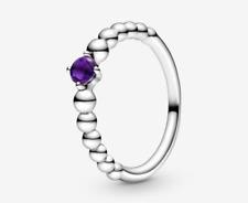 PANDORA Purple Beaded Ring 198598C03 Brand New!