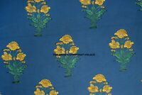 Indian Decorative Handmade Flower Print Fabric By Yard Cotton Dessmaking Fabric