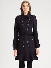Burberry Littleton Cotton Trench Coat Ruffle Hem ASO Duchess Kate Sz 6