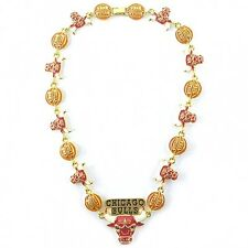NBA Necklace Chicago Bulls Fancy Gold Jewelry