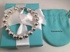 "Tiffany & Co Sterling Silver Bead Bracelet Medium 7.5"" RRP $455. Beads 10mm"