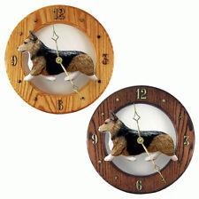 Welsh Corgi Pembroke Wood Wall Clock Plaque Sable
