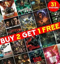 Call of Duty Zombies Posters Treyarch Zombies Video Game Print Home Decor ED011