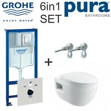 RAPID SL WC CONCEALED FRAME CISTERN PLATE IVO WALL-HUNG WC SEAT 6IN1 SET