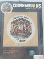 DIMENSIONS Counted Cross Stitch Kit  COZY PORCH WELCOME CROSS STITCH KIT