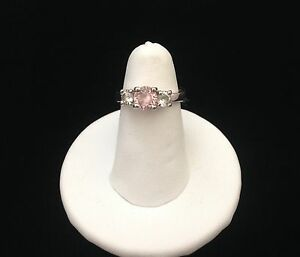 Women's pink and white Crystal ring