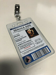 Customize Service Dog ID Card Badge ESA ADA EMOTIONAL SUPPORT THERAPY Portrait