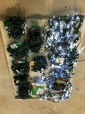 LED CHRISTMAS LIGHTS, (8) STRINGS OF 100 LEDs EACH AND (2) 70 LED NETS