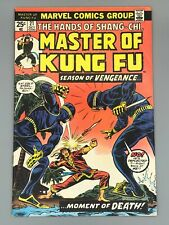 Master of Kung Fu #21 (1974) FN/VF ~ Early app Shang-Chi ~ NEAR WHITE PAGES  MVS