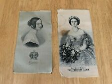 More details for antique queen victoria and princess alice silk pictures