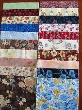 40 x 5' CHARM SQUARES 2 X20 Dainty Flowers 100% Cotton Fabric Sewing Material N8