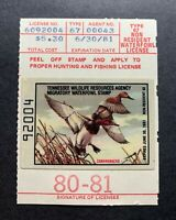 WTDstamps - TENNESSEE 1980 - State Duck Stamp - Mint OG NH **NON-RESIDENT**