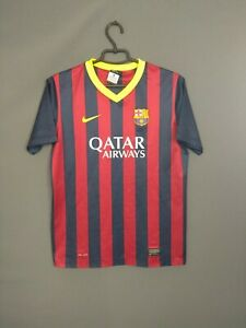 Barcelona Jersey 2013 2014 Home Kids Boys 13-15 Shirt Nike 532811-411 ig93