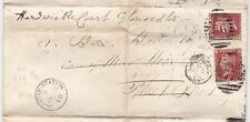* 1868 G GRAY CHIEF ACCOUNTANT BANK OF ENGLAND LETTER REDIRECTED TO GLOUCESTER