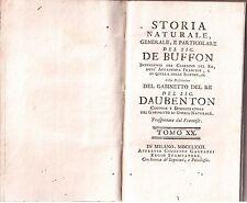 De Buffon - Storia naturale,generale e particolare - Tomo XX