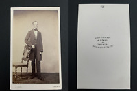 Famille Reinlein von Marienburg Vintage albumen print. CDV.  Tirage albumi