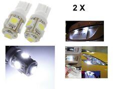 2  LAMPADA LED 5 SMD bianca T10 XENON lampadina auto 6000K 12V W5W luce 5050