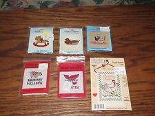 6  Counted Cross Stitch Kits , (Spare Time & Small Shop and Country Wire Works)