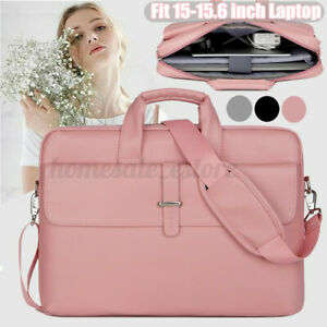New Fashion Women Leather Waterproof Briefcase Work Laptop Handbag Shoulder